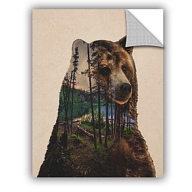 ArtWall Davies Babies Bear Lake Wall Decal; 10'' H x 8'' W x 0.1'' D