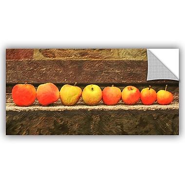 ArtWall Scott Medwetz Apple Line Up Wall Decal; 12'' H x 24'' W x 0.1'' D
