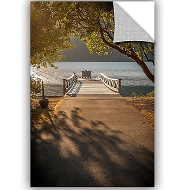 ArtWall Tim Oldford Crescent Lake Pier Wall Decal; 12'' H x 8'' W x 0.1'' D