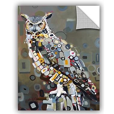ArtWall Britt Freda Great Horned Owl Wall Decal; 10'' H x 8'' W x 0.1'' D
