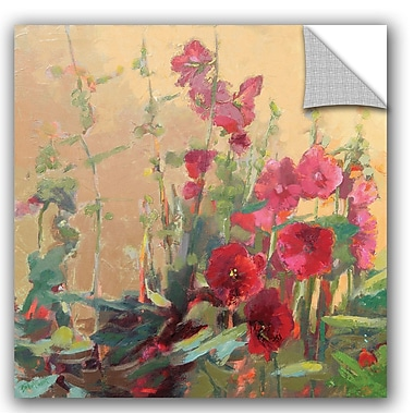 ArtWall Beth A. Forst Red Haven Hollyhocks Wall Decal; 18'' H x 18'' W x 0.1'' D