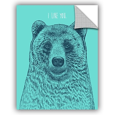 ArtWall Rachel Caldwell I Like You Bear Wall Decal; 18'' H x 14'' W x 0.1'' D