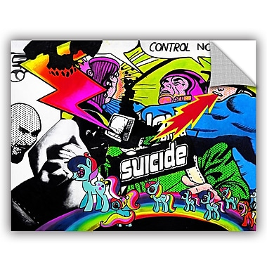 ArtWall Colourblind Suicide Whatever You Like Wall Decal; 36'' H x 48'' W x 0.1'' D