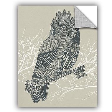 ArtWall Rachel Caldwell Owl King Wall Decal; 18'' H x 14'' W x 0.1'' D