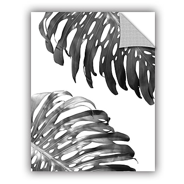 ArtWall Lexie Greer Double Philodendron BW Wall Decal; 24'' H x 18'' W x 0.1'' D