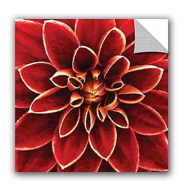 ArtWall Scott Medwetz Red Petaled Flower Wall Decal; 14'' H x 14'' W x 0.1'' D