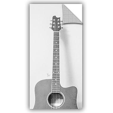 ArtWall Scott Medwetz Grayscale Acoustic Guitar Wall Decal; 24'' H x 12'' W x 0.1'' D