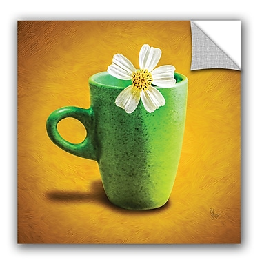 ArtWall Scott Medwetz Green Flower Cup Wall Decal; 14'' H x 14'' W x 0.1'' D