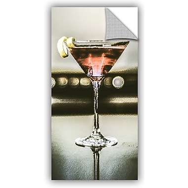 ArtWall Scott Medwetz Martini Glass Wall Decal; 24'' H x 12'' W x 0.1'' D