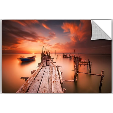 ArtWall Andy Mumford Red Sunset at Carrasqueira Alentejo Wall Decal; 32'' H x 48'' W x 0.1'' D