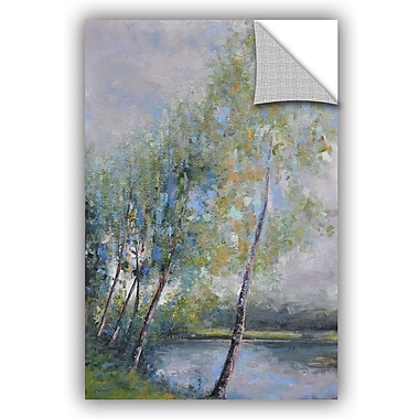 ArtWall Clement Nivert Poetry on Riverbank Wall Decal; 48'' H x 32'' W x 0.1'' D