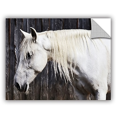 ArtWall Scott Medwetz White Equestrian Wall Decal; 18'' H x 24'' W x 0.1'' D