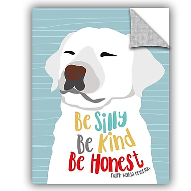 ArtWall Ginger Oliphant Be Silly Kind and Honest Wall Decal; 18'' H x 14'' W x 0.1'' D