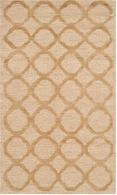 Martha Stewart Rugs Hand-Tufted Beige Area Rug; Rectangle 5'6'' x 8'6''