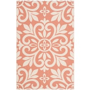 Martha Stewart Rugs Bloomfield Cinnamon/White Area Rug; Runner 2'7 inch x 5' by
