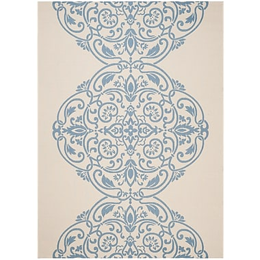 Martha Stewart Rugs Topiary Signet Blue/Tan Area Rug; 8' x 11'2''