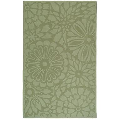 Martha Stewart Rugs Full Bloom Hand-Loomed Beige/Green Area Rug; Rectangle 8' x 10'