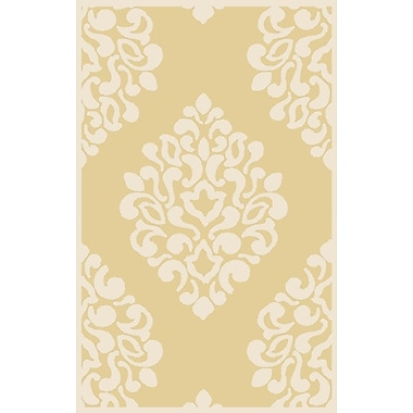 Martha Stewart Rugs Floret Hand-Loomed Beige/Ivory Area Rug; Rectangle 4' x 6'