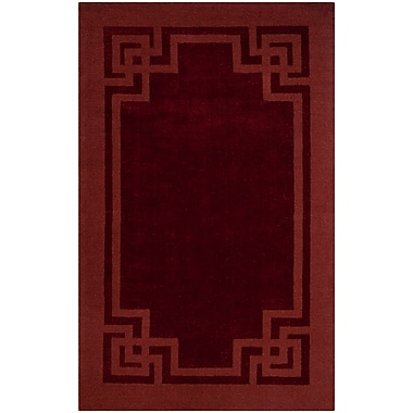 Martha Stewart Rugs Deco Tufted-Hand-Loomed Red/Brown Area Rug; 5' x 8'