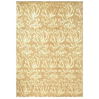 Martha Stewart Rugs Seaflora Hand-Tufted Beige/Yellow Area Rug; 5'6'' x 8'6''