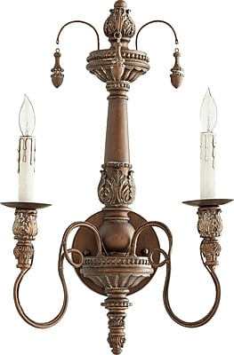 One Allium Way Paladino 2-Light Candle Wall Light