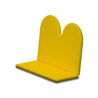 POLYWOOD Outdoor Sunbrella Bench Cushion; Sunflower Yellow