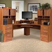 Red Barrel Studio Lewisville L-Shape Executive Desk w/ Hutches