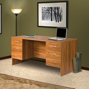 Red Barrel Studio Lewisville Corner Monitor Platform Executive Desk