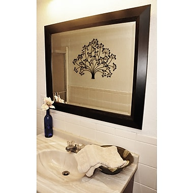 Darby Home Co Rectangle Brown Lining Wall Mirror; 31.75'' H x 27.75'' W x 0.75'' D