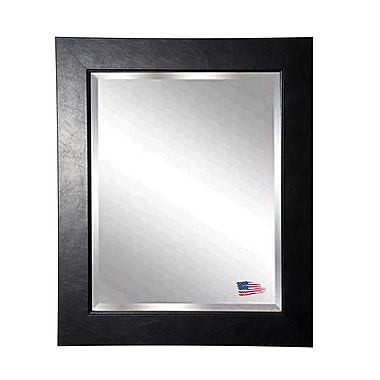 Darby Home Co Rectangle Black Superior Wall Mirror; 31'' H x 27'' W x 0.75'' D