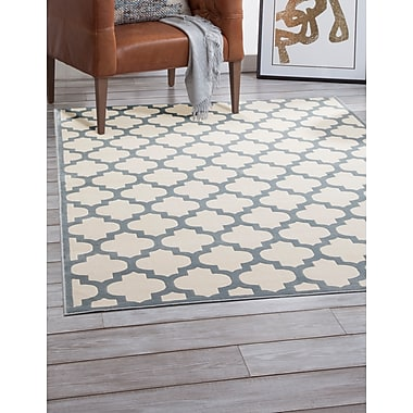 Darby Home Co Beecroft Light Blue/Ivory Area Rug; 5'3'' x 7'6''