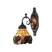 Fleur De Lis Living Antoinette 1-Light Wall Sconce w/ Grapevine Glass Shade; 75W Med. Bulb