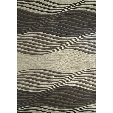 Latitude Run Este Gray/Black Area Rug; 5'3'' x 7'7''