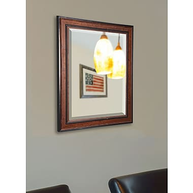 Loon Peak Country Pine Wood Wall Mirror; 36.5'' H x 30.5'' W x 0.5'' D