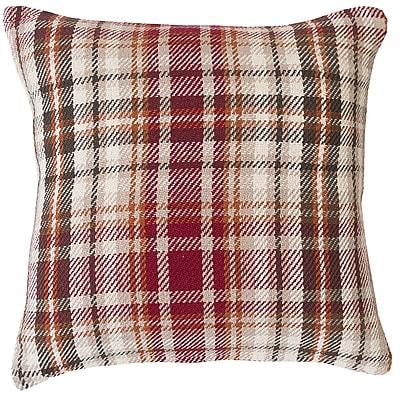 August Grove Jenine Plaid 100pct Cotton Throw Pillow