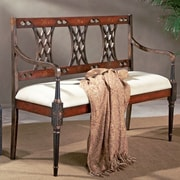 Astoria Grand Kadine Wooden Bench; Imperial Red