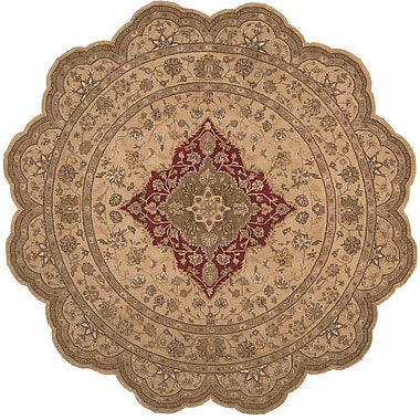 Astoria Grand Lundeen Brown/Tan Floral Area Rug; Novelty 8' x 8'