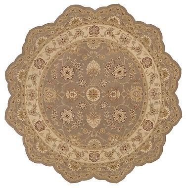 Astoria Grand Lundeen Brown/Tan Floral Area Rug; Novelty 6' x 6'