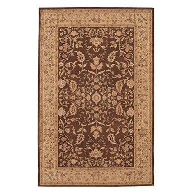 Astoria Grand Lundeen Brown/Tan Floral Area Rug; Rectangle 8'6'' x 11'6''