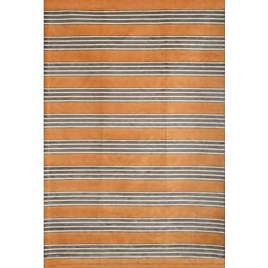 Breakwater Bay Luciana Tangerine/Gray/Ivory Area Rug; 7'10'' x 11'2''