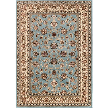 Charlton Home Brew Kettle Traditional Blue Area Rug; Rectangle 6'7'' x 9'6''