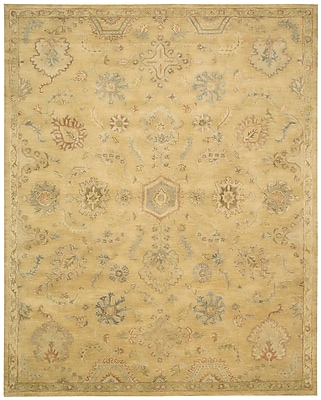 Darby Home Co Fullmer Light Gold Area Rug; Rectangle 9'6'' x 13'6''