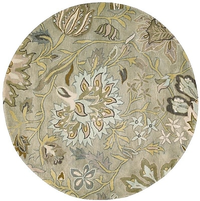 Darby Home Co Fullmer Silver Area Rug; Round 8'