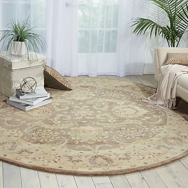 Darby Home Co Fullmer Taupe Area Rug; Round 8'