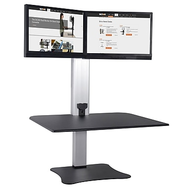 Victor high rise electric dual monitor standing desk dc450 staples victor high rise electric dual monitor standing desk dc450 reheart Images