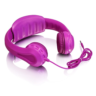 Aluratek Volume Limiting Wired Foam Headphones, Children, Pink (AKH01FP)