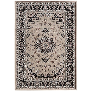 Astoria Grand Taufner Cream/Anthracite Area Rug; Rectangle 8' x 10'