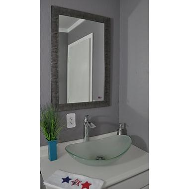 World Menagerie Safari Inspired Silver Full Length Body Mirror; 58'' H x 19'' W x 0.75'' D