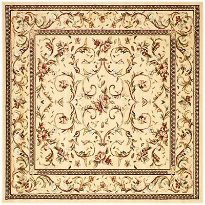 Astoria Grand Taufner Ivory Area Rug; Square 10'