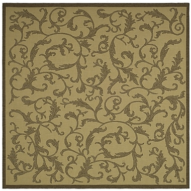 Astoria Grand Beasley All Over Ivy Outdoor Rug; Square 7'10''